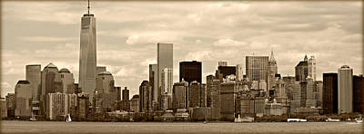 Nyc Skyline Poster by Stephen Stookey