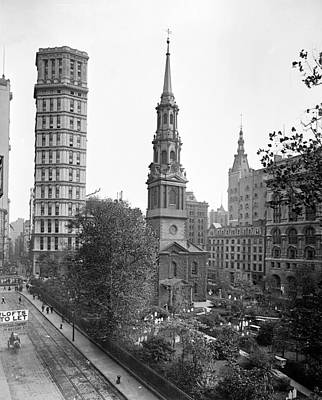 Nyc, St. Paul Building And Episcopal Poster by Science Source