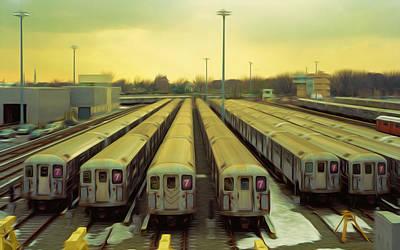 Nyc Subway Cars Poster