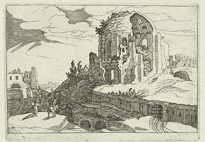 Nymphaeum In Rome, Willem Van Nieulandt II Poster