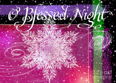 O Blessed Night Greeting Poster