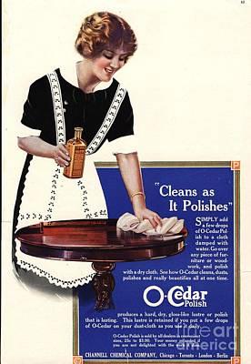 O-cedar 1910s Usa Polish Dusting Poster
