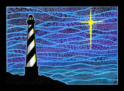 O Holy Night Hatteras Poster by Jim Harris