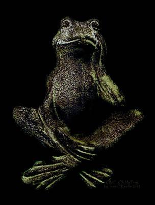 O M F Oh My Frog Poster by Jean OKeeffe Macro Abundance Art