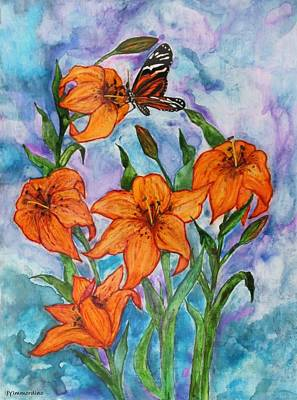 O Tiger Lily Poster by Janet Immordino
