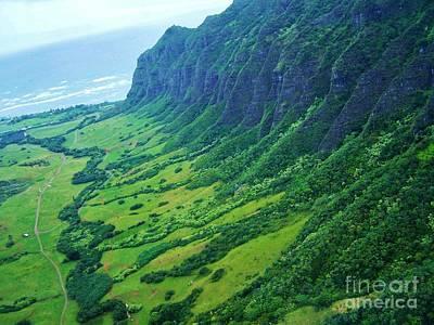 Oahu Jurassic Park Cliffs Poster
