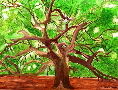 Poster featuring the painting Oak Tree by Magdalena Frohnsdorff