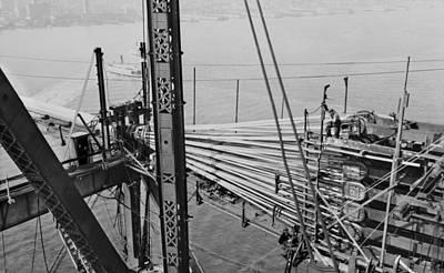 Oakland Bay Bridge Construction, 1935 Poster