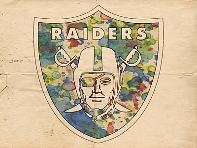 Oakland Raiders Poster Vintage Poster by Florian Rodarte