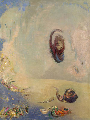 Oannes, C.1910 Oil On Canvas Poster by Odilon Redon