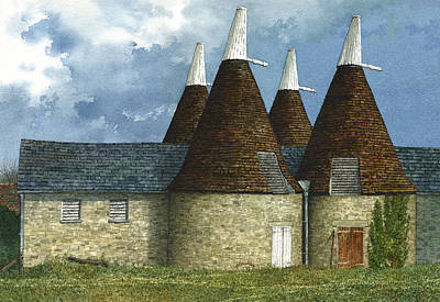 Oast Houses Poster