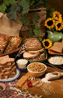 Oat And Barley Based Foods Poster by Science Source