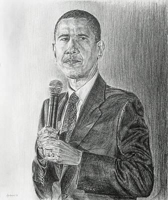 Obama 3 Poster by Michael Morgan