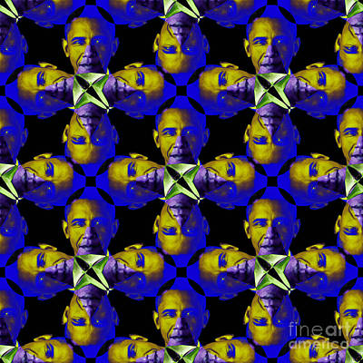 Obama Abstract 20130202m118 Poster by Wingsdomain Art and Photography