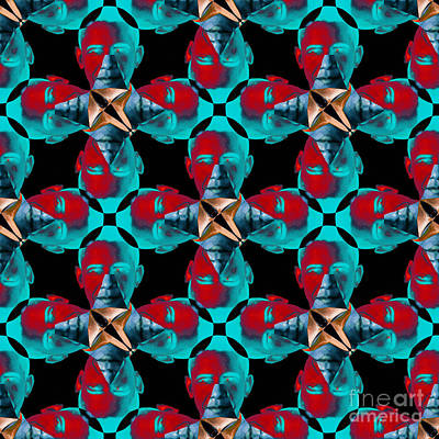Obama Abstract 20130202m180 Poster