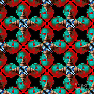 Obama Abstract 20130202p0 Poster by Wingsdomain Art and Photography
