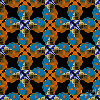 Obama Abstract 20130202p28 Poster by Wingsdomain Art and Photography