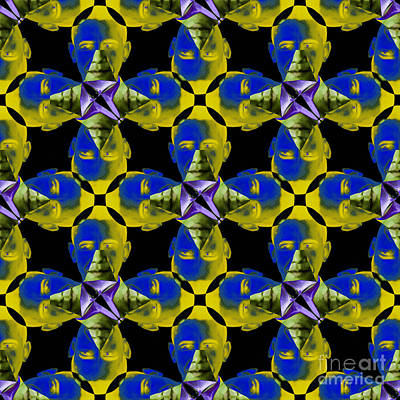 Obama Abstract 20130202p55 Poster by Wingsdomain Art and Photography
