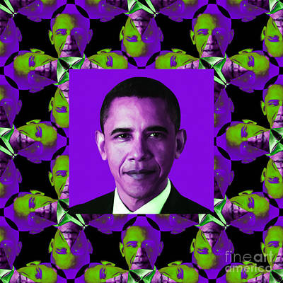 Obama Abstract Window 20130202m88 Poster