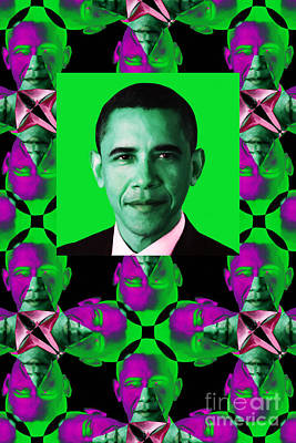 Obama Abstract Window 20130202verticalp128 Poster by Wingsdomain Art and Photography