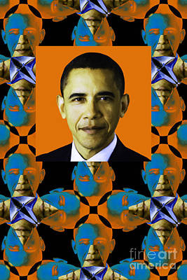 Obama Abstract Window 20130202verticalp28 Poster