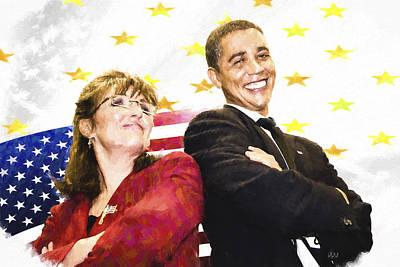Obama N Palin Poster by Vivian Frerichs