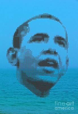 Obama On Ocean Poster by Rodolfo Vicente