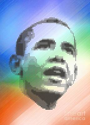 Obama On The Mirror Poster by Rodolfo Vicente