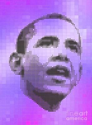 Obama On Velvet Tiles Poster by Rodolfo Vicente