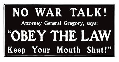 Obey The Law Keep Your Mouth Shut Poster by War Is Hell Store