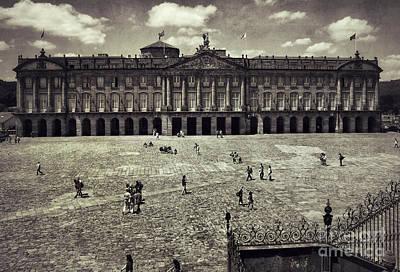 Obradoiro Square Rajoy Palace Poster by Guido Montanes Castillo