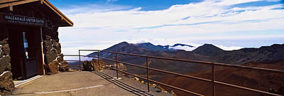 Observation Point With Volcanic Crater Poster