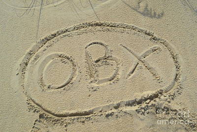 Obx Sign In The Sand Poster by Robert Loe