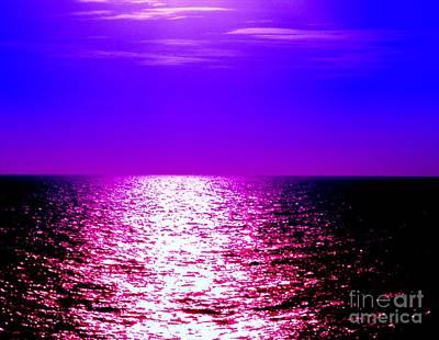 Ocean At Night IIi Poster by Anita Lewis