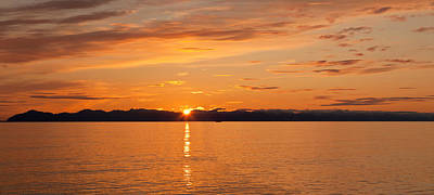 Ocean At Sunset, Inside Passage Poster by Panoramic Images