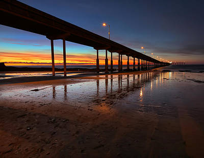 Ocean Beach California Pier 4 Poster by Larry Marshall