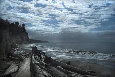 Ocean Beach Pacific Northwest Poster by Yulia Kazansky