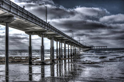 Ocean Beach Pier Poster by Photographic Art by Russel Ray Photos