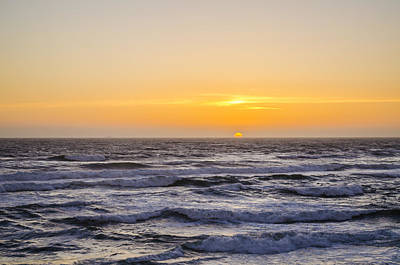 Ocean Beach Sunset Poster