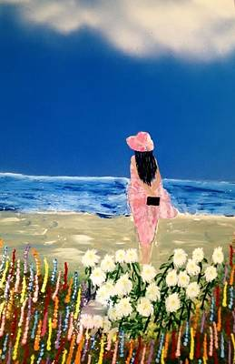 Poster featuring the painting Ocean Breeze by Michael Rucker
