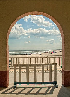 Ocean City Beach View Poster