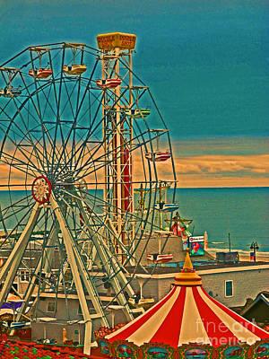 Ocean City Castaway Cove Ferris Wheel Poster