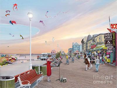 Ocean City Maryland Poster by Albert Puskaric