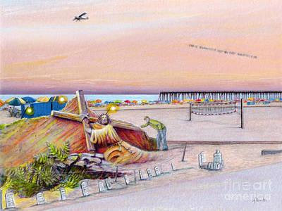 Ocean City Sand Sculpture Poster by Albert Puskaric