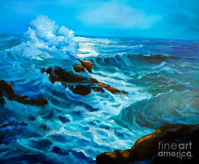 Poster featuring the painting Ocean Deep by Jenny Lee