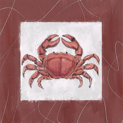 Ocean Finest-marsala Pantone 18-1438 Poster by Lourry Legarde