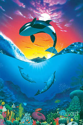 Ocean Freedom Poster by MGL Studio - Chris Hiett