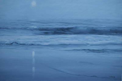 Ocean Nocturne Poster by Richard Hinger