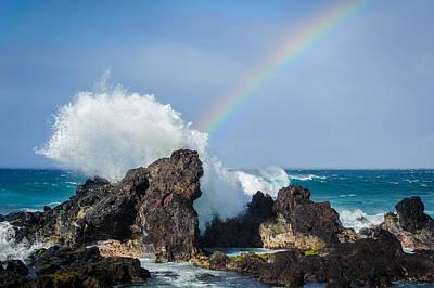 Ocean Rainbow Explosion Poster by Jen Morrison