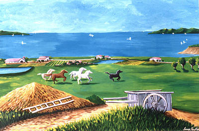 Poster featuring the painting Ocean Ranch by Lance Headlee